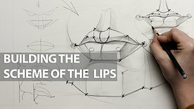 Constructive drawing , Building the scheme of the lips