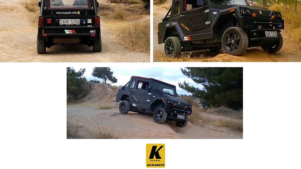 KERABOSS SUPER K ΤΟ ΠΡΩΤΟ ΕΛΛΗΝΙΚΟ ΑΥΤΟΚΙΝΗΤΟ KERABOSS CARS MANUFACTURING WWW.SUPERK.INFO