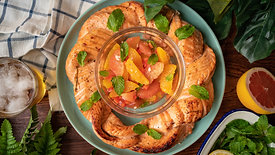 檸檬柚香鮭魚花圈   桂冠窩廚房   日式清爽柚香和風醬