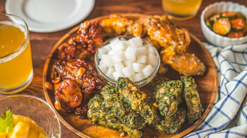 食物的療癒聲音!韓式紅綠燈炸雞   桂冠窩廚房   ASMR