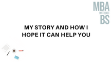 03 - My story and how I hope it can help you