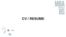 09 - CV or Resume
