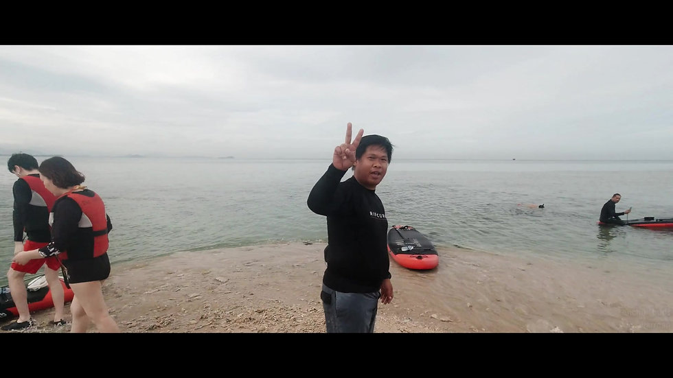 Stand up paddling and snorkeling, Tanjung Aru [FHD25fps]