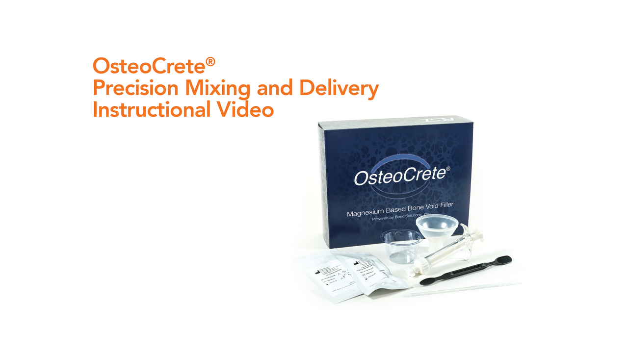 OsteoCrete® Mixing Video