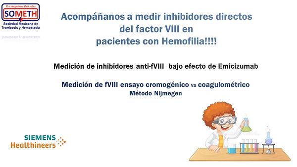 Medición de inhibidores anti-FVIII bajo efecto de Emicizumab