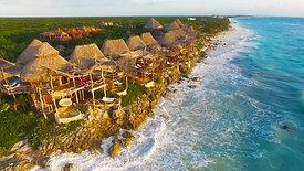 Commercial: Azulik Hotel Resort aerial views