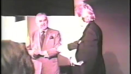 Elliott Hitchcock receives a nice compliment from Ed McMahon