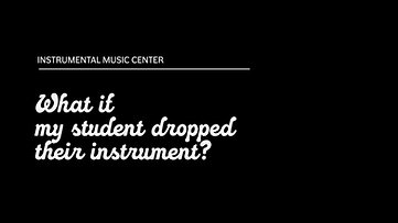 What if The Instrument is Dropped?