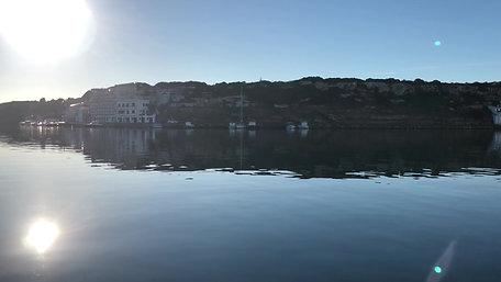 Port view in Menorca