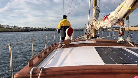 Arriving in Menorca Island