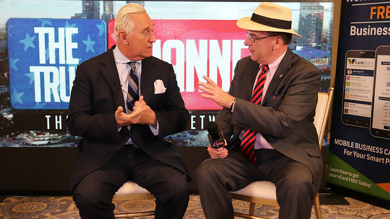 Trump Train's JJ Flash interviewing Roger Stone