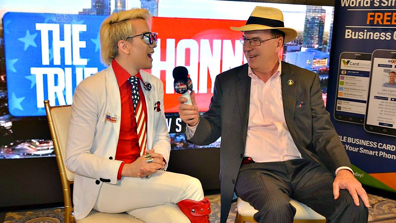 Trump Train's JJ Flash interviewing Ricky Rebel