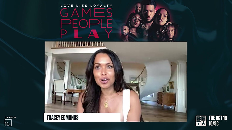 Life In Entertainment with Gena Heelz on last week's press conference with the cast of 'Games People Play' Season 2 on BET, interviewing Tracey Edmonds.