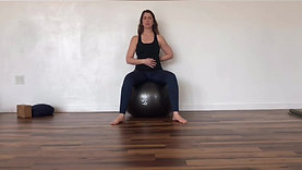 Seated Ball Breath + Mobility