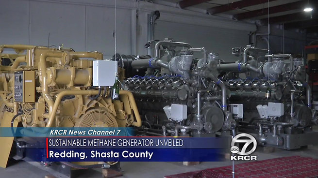 Northstate companies unveil methane powered generator _ KRCR