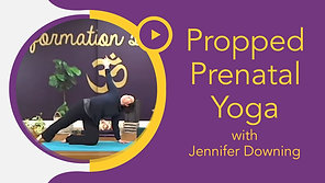 Propped Prenatal Yoga with Jennifer