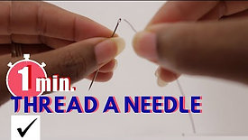 Thread a Needle the Easy Way