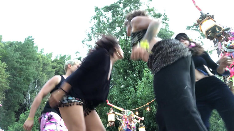 Existential Action Temple Team Dance Party! SUNSET CAMPOUT JULY 2019, Belden Town, California