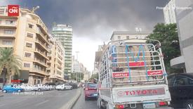 Imágenes del incendio en Beirut