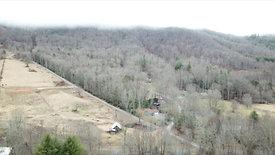 amazing aerial drone of AirBnB in Banner Elk, NC