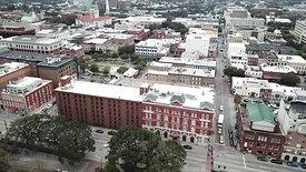 Downtown Savannah dji mavic Pro drone
