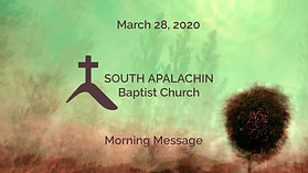 March 29, 2020 - Morning Message