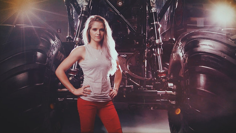Collete Davis Wonder Woman Monster Truck Driver