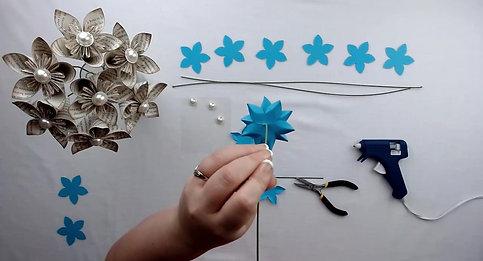 Fleur Mila Fleurigami / Gratuite à l'achat boîte créative