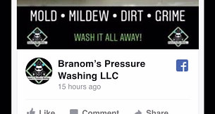 Branom's Pressure Washing Website preview
