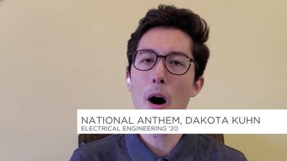 National Anthem, Dakota Kuhn, Electrical Engineering '20