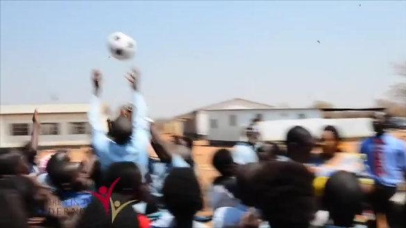 Twabuka School, Zambia, Soccer Ball Delivery