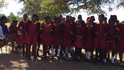 Zimbabwe Girls Dancing Celebrating Computer Handover