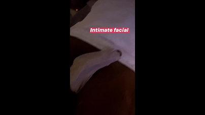 Post male brazilian waxing Balls Bikini facial
