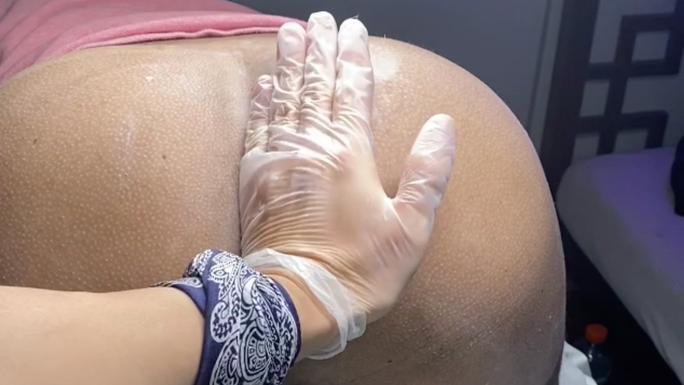 KlingerX: Male Butt & Crack Waxing hair removal video tutorial at Alexspot24