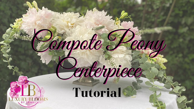 Low Peony Compote Centerpiece