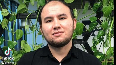Uzbek student in Poland