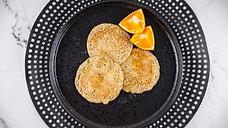Orange Poppyseed Wholemeal Pancakes