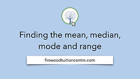 Finding the mean, median, mode and range final