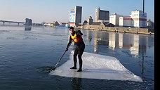 SUP on ice 1