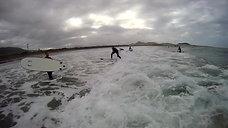 surfing famara strand klip