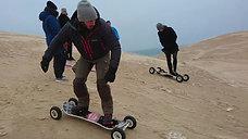 snowboard på sand i nordjylland