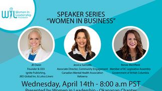 Speaker Series: Women in Business, presented by WIL Okanagan Chapter