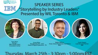 Sneak Peek:  WIL & IBM - Storytelling by Industry Leaders - March 25, 2021