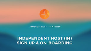Independent Hosts (IH) On-Boarding Tutorial