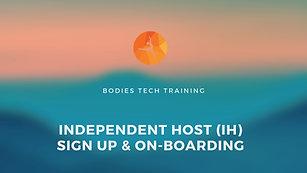 Independent Hosts (IH) On-Boarding Tutorial