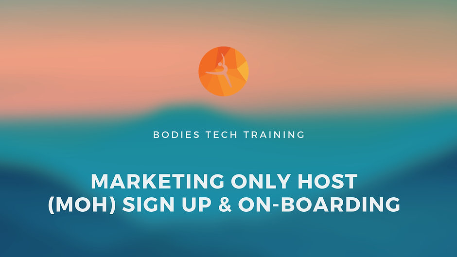 Hosts On-Boarding & Create Sessions