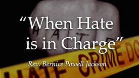 when hate is in charge