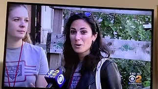 PS 116 on CBS News regarding early voting in schools