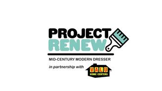Project Renew | Mid-Century Modern Dresser