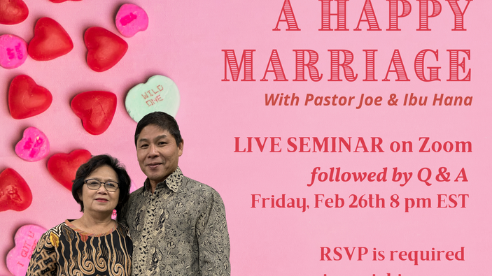 The Key of Happy Marriage Seminar/ Q&A LIVE Recording